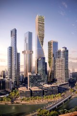 """The """"Green Spine"""" aims to be a """"vertical city of green spaces"""", say designers."""