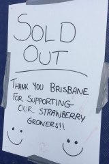 More than 14,000 strawberry sundaes sold out by mid-afternoon on Wednseday.
