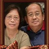 Henny Sengkey Kawilarang with her husband Sinyo Kawilarang, who died last month.