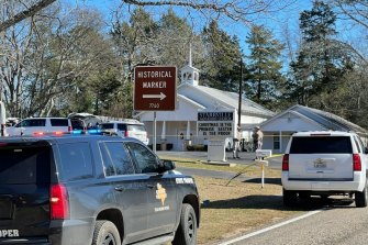 The Smith County Sheriff's Office investigates a fatal shooting at the Starville Methodist Church in Winona, Texas.