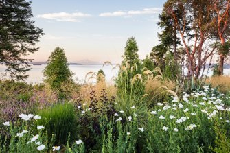 Windcliff garden on Puget Sound in the Pacific Northwest of the US.
