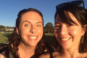 Sarah Dingle with her half-sister Rebecca Ronan.