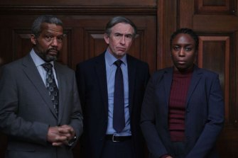 Hugh Quarshie, Steve Coogan and Sharlene Whyte star in Conviction: The Case of Stephen Lawrence.