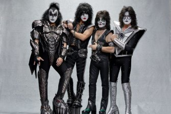 The Kiss line-up of Gene Simmons (left), Paul Stanley, Eric Singer and Tommy Thayer has been together for 15 years.