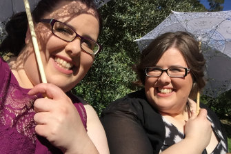 Twins Deanne (left) and Rachel Elliott, as a teacher and healthcare worker, are on the front line of the pandemic.