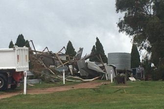 A man was injured after a tornado hit his property in Meadow Flat, near Lithgow.