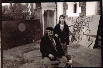 Louise Olsen with her father artist John Olsen.