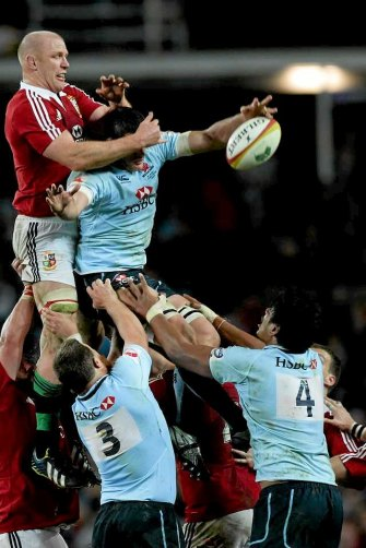 Lineout during the Waratahs v Lions.