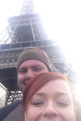 Anthony Parker and Siobhan Oliver in Paris on one of several luxurious overseas holidays where they posed for selfies.
