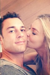 Jennifer Hawkins and Jake Wall.