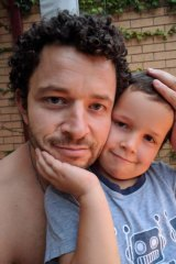 Cliff Mapham and his son Phoenix, who was found on Thursday.