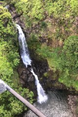The canyon where rescuers in a helicopter spotted Amanda Eller, 17 days after she went missing in the Makawao Forest Reserve in North Maui