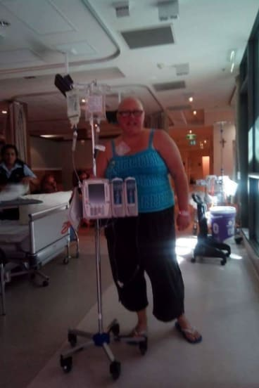 Jacqui Carton during her cancer treatment in 2015.