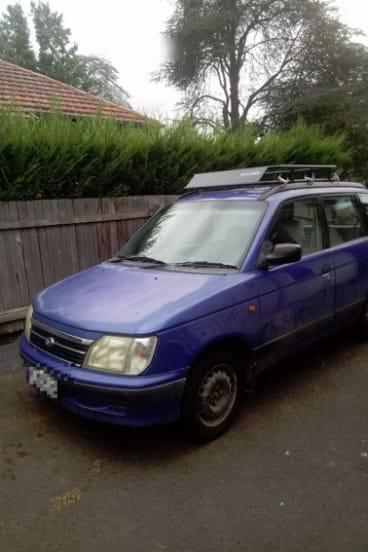 Mr Kelly's purple station wagon.