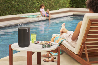 The Sonos Move can operate indoors in its charging base, or can be taken on the move using battery power.