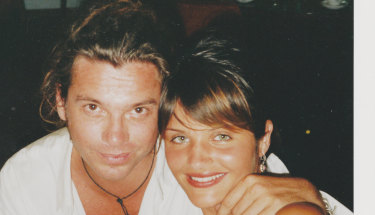 Michael Hutchence with Helena Christensen, who speaks in the film for the first time about their relationship and the attack on her then boyfriend.
