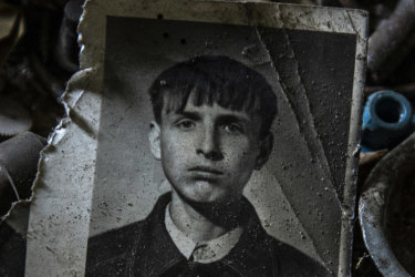 Gena Lozynsky, pictured, and his wife Lida, were two of the last people living in the village until they were both murdered.