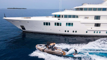 Queensland authorities say the crew of the superyacht are not co-operating.