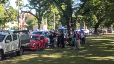 A person has been injured in a collision on Royal Parade in Parkville.