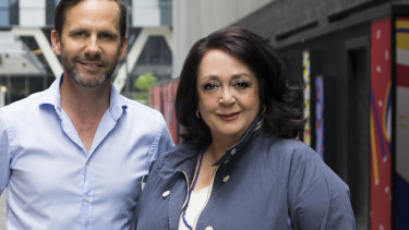ABC Sydney hosts Robbie Buck and Wendy Harmer.