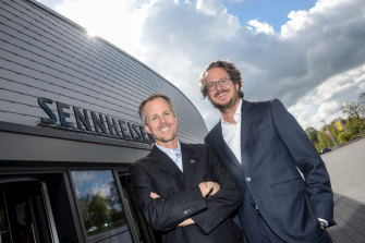 Daniel Sennheiser, left, and Andreas Sennheiser are current co-CEOs of the 75-year-old company.