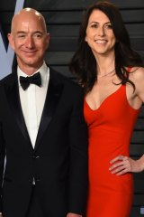 Jeff Bezos and wife MacKenzie Bezos in happier times.