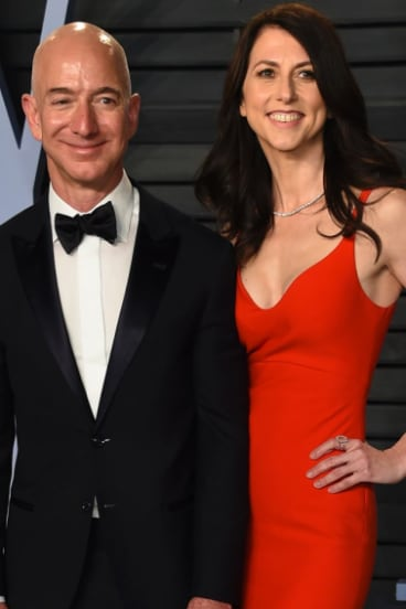 Jeff Bezos and wife MacKenzie Bezos in happier times.