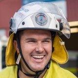 Chris Unstead in his firefighting uniform.
