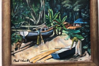"""One of 59 """"Noel Wood"""" works withdrawn from sale by Leonard Joel auction house."""