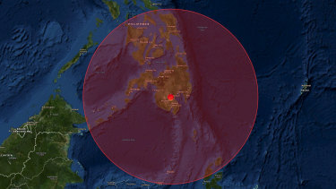 A 6.4 earthquake struck Magsaysay in the Philippines.