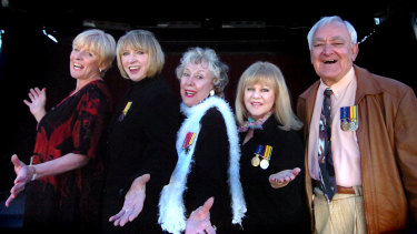 Gus Merzi with Pat Kennedy, Dinah Lee, Lorrae Desmond and Little Patti in 2006.