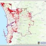 Perth urban heat island mapping.