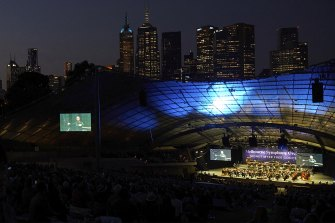 The threat of rain did not deter Melburnians lucky enough to be in the Sidney Myer Music Bowl.
