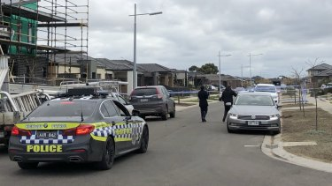 Police remained at the scene on Tuesday afternoon.