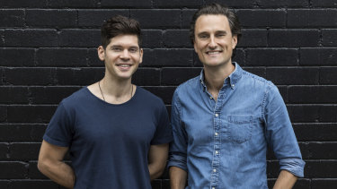 Qwilr founders Mark Tanner (right) and Dylan Baskind are still focused on overseas markets.