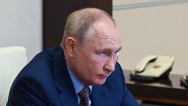 Crackdown under way: Russian President Vladimir Putin.