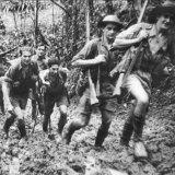 Diggers on the Kokoda Track during World War II.