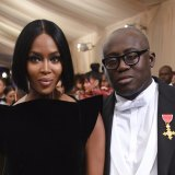Model Naomi Campbell and Edward Enninful at the Metropolitan Museum in 2017.