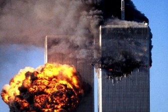Terrorists crashed two airliners into the World Trade Center New York city in a closely timed series of blows on 11 September 2001 that brought down the twin 110-storey towers.