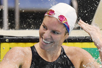 Emily Seebohm celebrates qualifying for her fourth Olympic Games.