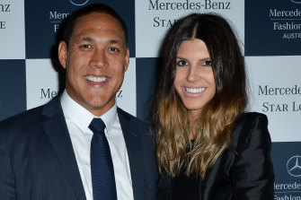 Geoff and Sara Huegill have split after being together for 13 years and having two daughters.