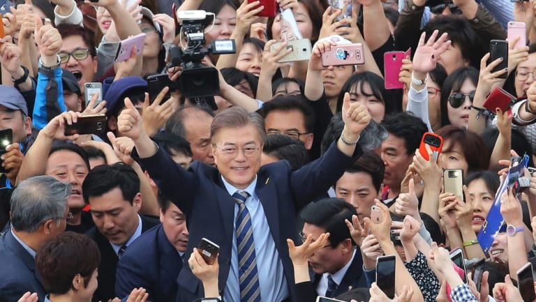 South Korean President Moon Jae-in is restricted to a single five-year term.