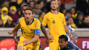Game on: Mark Milligan has warned against complacency against Taiwan.