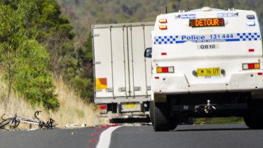 Cyclist dies after truck crash near ACT border
