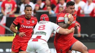 Tongan charge: Andrew Fifita.