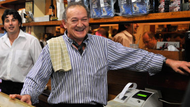 Cafe owner Sisto Malaspina.