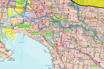 Where the boundary falls in inner Melbourne.