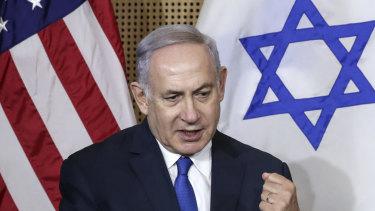 Israeli Prime Minister Benjamin Netanyahu in Warsaw on Thursday.