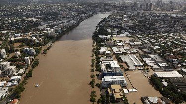 The flood peaked in Brisbane at 4.46m on January 13, 2011.