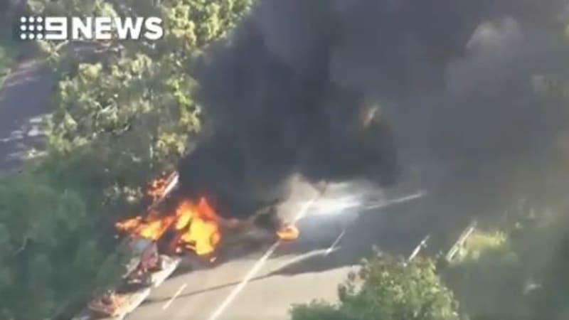 Fire destroys home on London St, Nundah, on Brisbanes northside